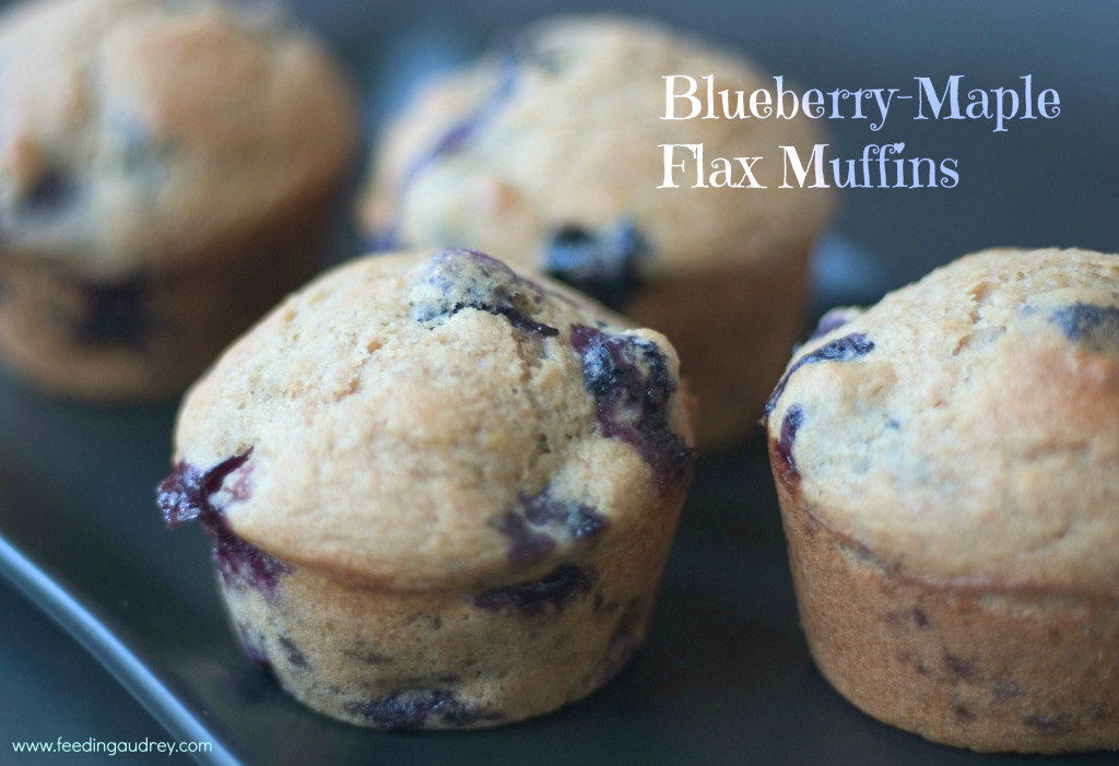 Blueberry Flax Maple Muffins