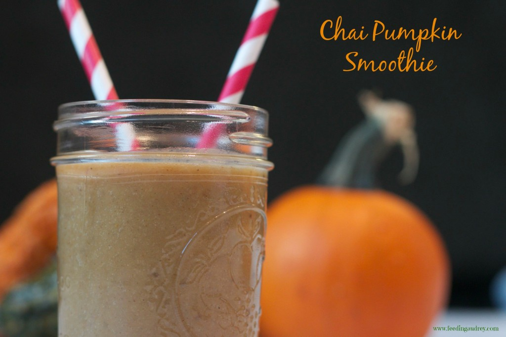 Chai Pumpkin Smoothie  www.feedingaudrey.com