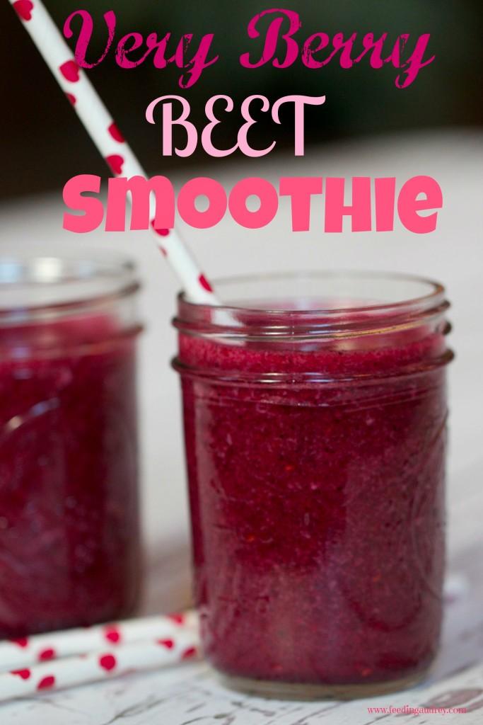 Very Berry Beet Smoothie www.feedingaudrey.com