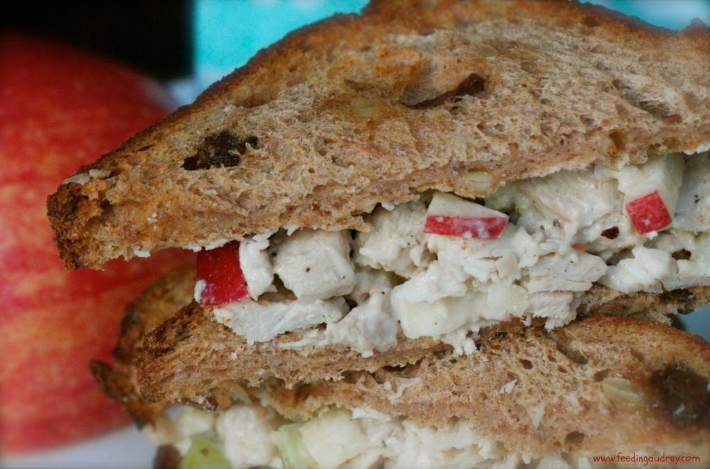 waldorf chicken sandwich www.feedingaudrey.com
