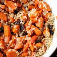 Citrusy Brown Rice with Roasted Root Veggies