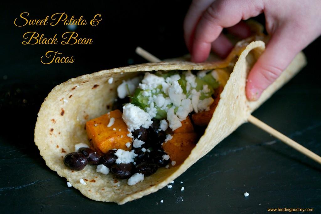 Sweet Potato and Black Bean Tacos  www.feedingaudrey.com