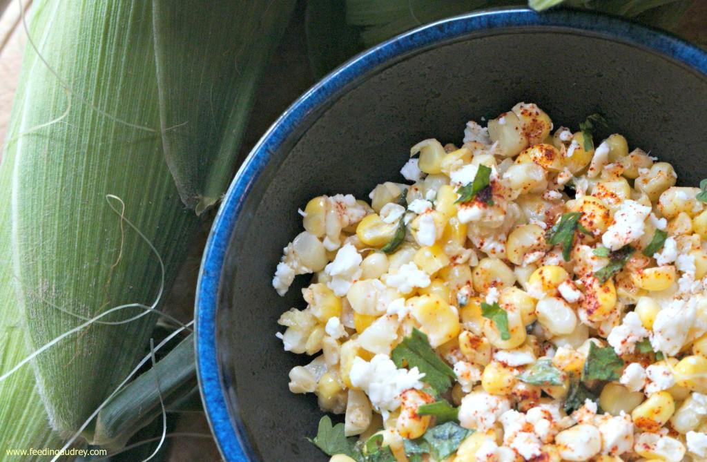 street corn salad www.feedingaudrey.com