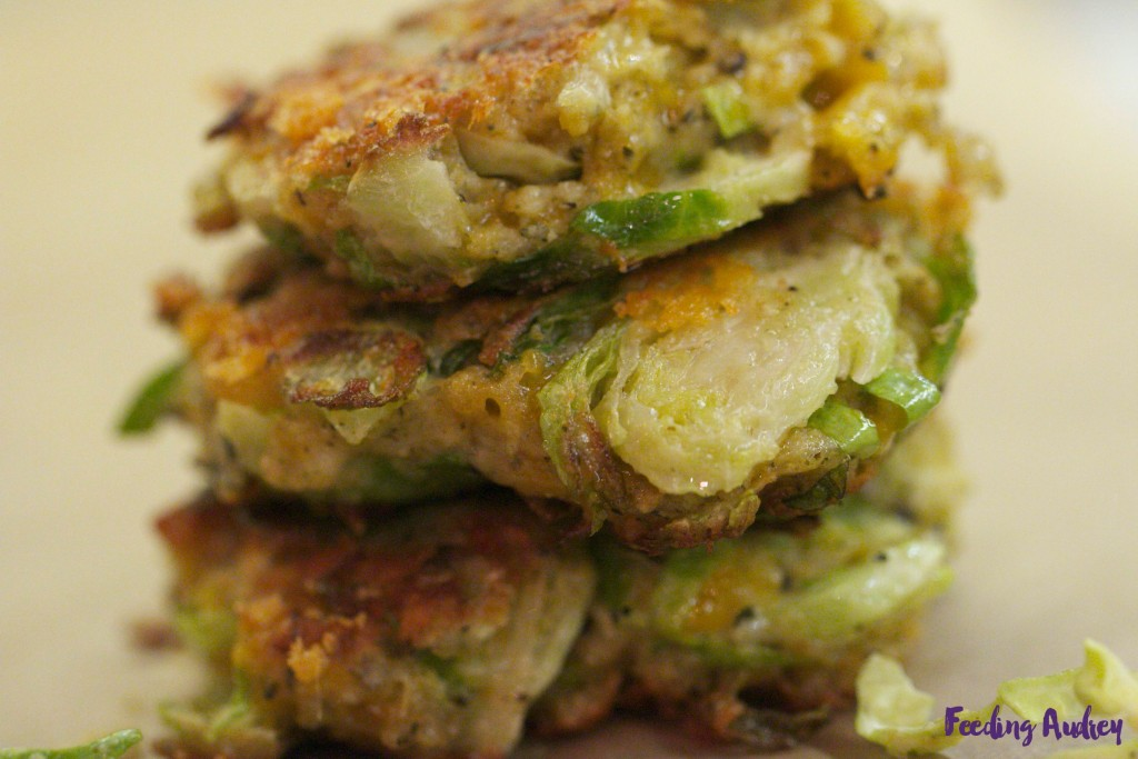 Brussels Sprouts Fritters www.feedingaudrey.com