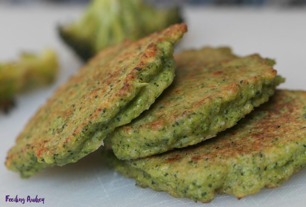 parmesan broccoli pancakes www.feedingaudrey.com