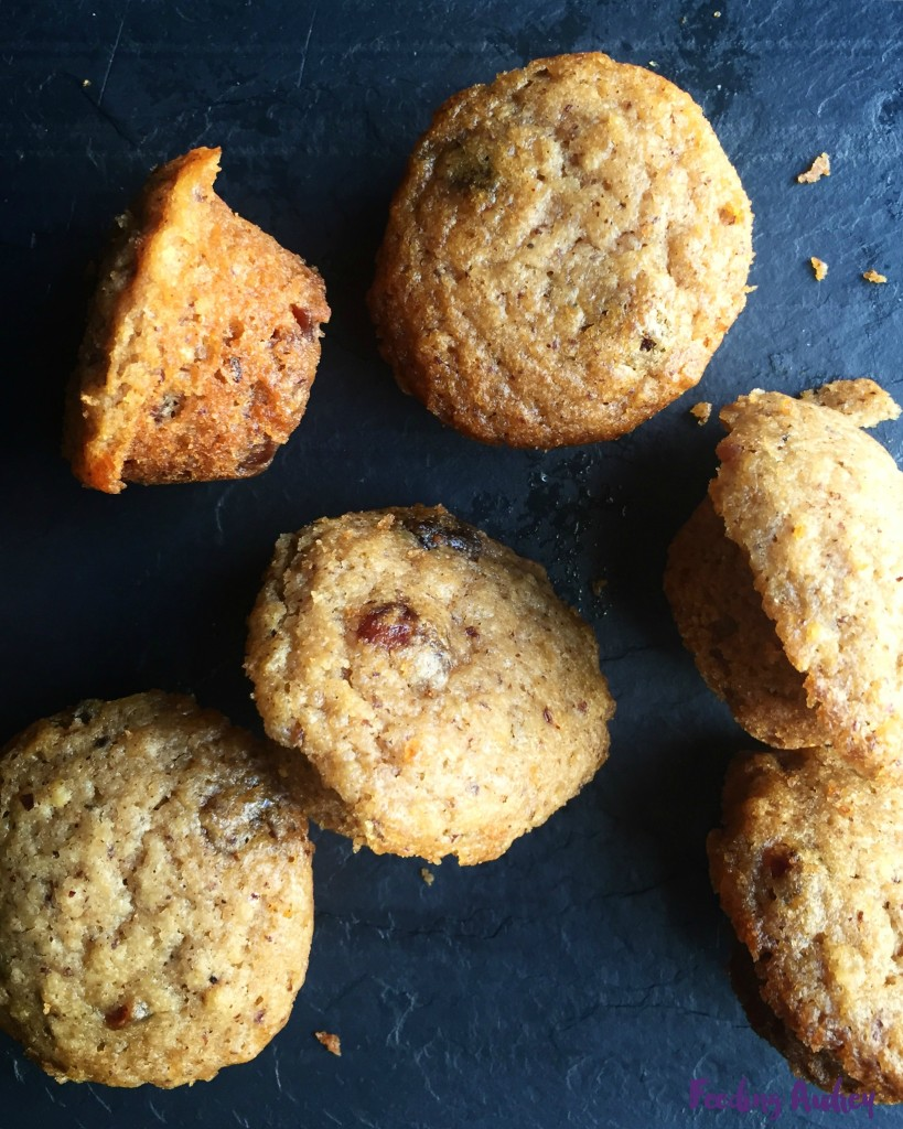 Apple Cranberry Mini Muffin www.feedingaudrey.com