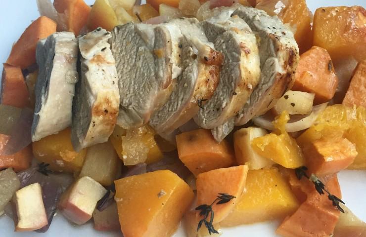 Apple Roasted Pork & Vegetables