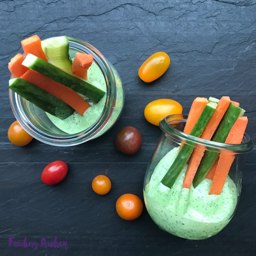 greek yogurt dill dip for kids www.feedingaudrey.com